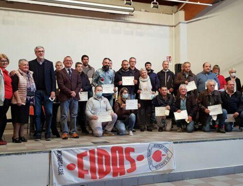 FIDAS Monregalese premia 357 donatori di sangue